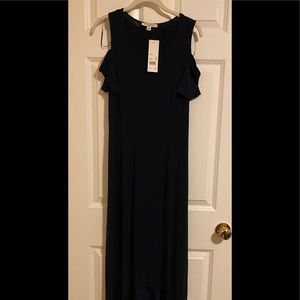 NWT high-low cold shoulder dress.